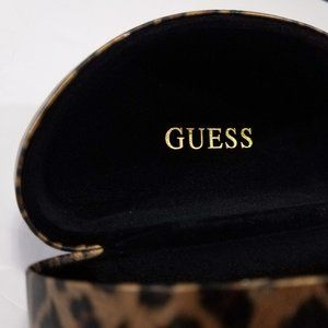 Guess Beautiful Leopard Print Hard Sunglasses Case